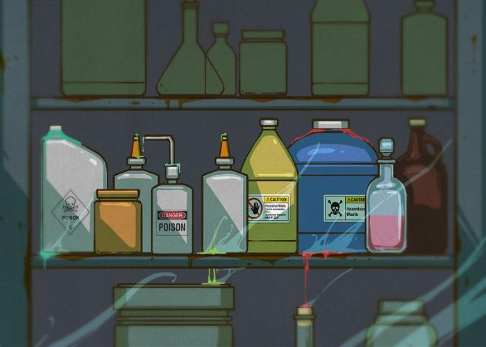 lưu kho hóa chất độc hại
